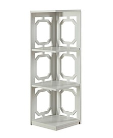 Omega 3 Tier Corner Bookcase