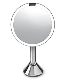 "8"" Round Sensor Makeup Mirror with Touch-Control Dual Light Settings"