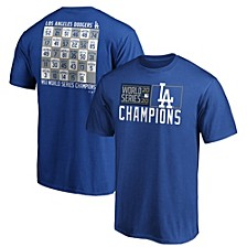 Men's Los Angeles Dodgers World Series Champ Jersey Roster T-Shirt