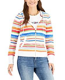 Striped Zip-Up Hoodie