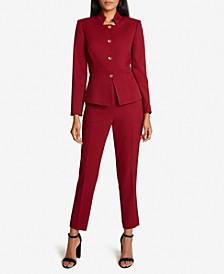 Peplum-Hem Pants Suit