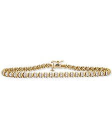 Diamond X Link Bracelet (1 ct. t.w.) in 10k Gold