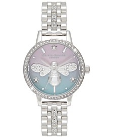Women's Sparkle Bee Stainless Steel Bracelet Watch 30mm