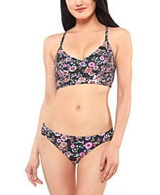 Posy Fields Cropped Cami Bikini Top & Bottoms