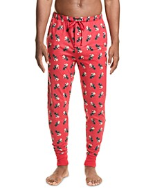Men's Black Martini Bear Pajamas