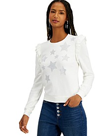 INC Ruffled Star Sweatshirt, Created for Macy's