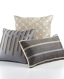 "Hotel Collection Modern Colonnade 18"" Square Decorative Pillow"