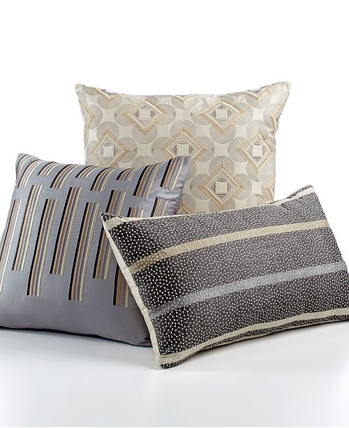 "Hotel Collection CLOSEOUT! Modern Colonnade 20"" Square Decorative Pillow"