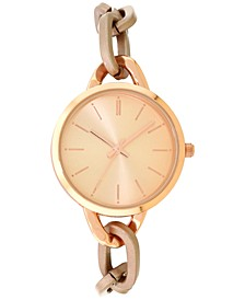 INC Women's Rose Gold-Tone Chain Bracelet Watch 32mm, Created for Macy's