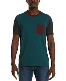 Men's Color-Block Heathered Pocket T-Shirt