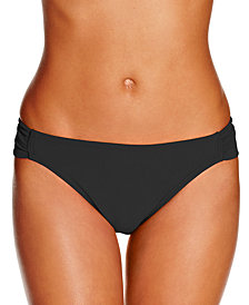 Hula Honey Juniors Malibu Side-Tab Hipster Bikini Bottoms, Created for Macy's