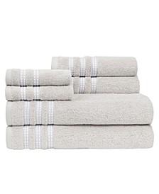 Sabina Low Twist Towel Set, 6 Pieces
