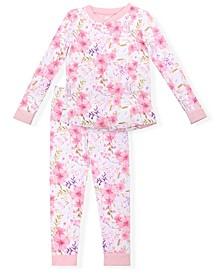 Big Girls Cosy Allover Floral Print Pajama Set, 2 Piece
