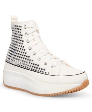 Winnona Rhinestone Flatform High-Top Sneakers