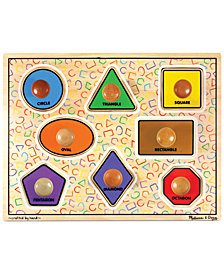 Melissa and Doug Kids Toy,  Large Shapes Jumbo Knob Puzzle