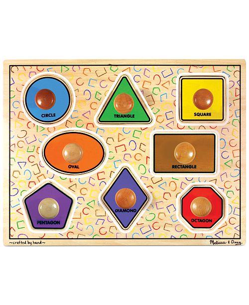 Melissa and Doug Kids Toy,  Large Shapes Jumbo Knob Puzzle