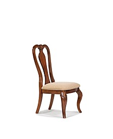 Evolution Queen Anne Side Chair in Rich Auburn Finish Wood