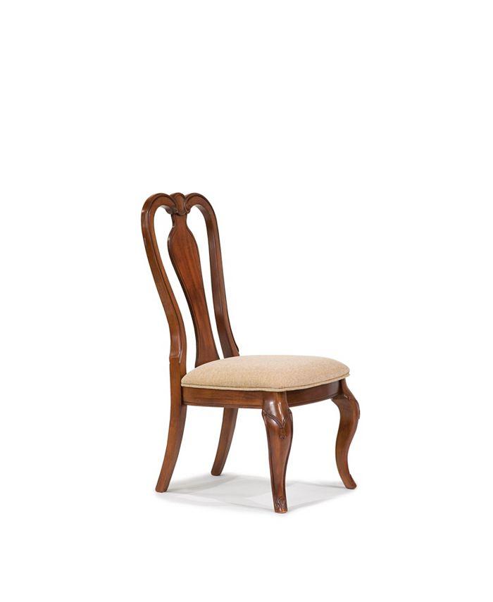 Furniture - Evolution Queen Anne Side Chair in Rich Auburn Finish Wood