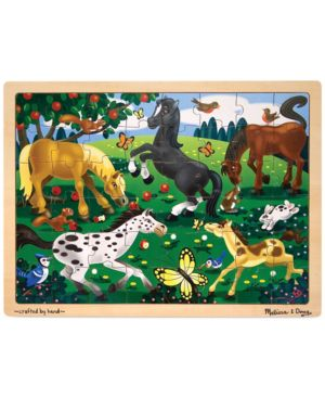 Melissa and Doug Kids Toy, Frolicking Horses 48-Piece Jigsaw Puzzle 1130425