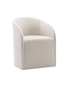 Logan Square castered arm chair, By Bernhardt