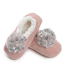 Chenille Pompom Women's Slipper
