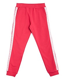 Big Girls Glitter Logo French Terry Joggers