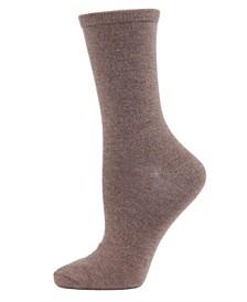 Flat knit Cashmere Women's Crew Socks