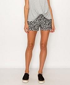 Women's Zebra French Terry Shorts