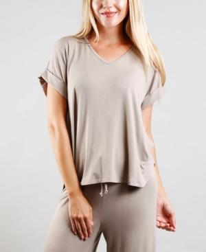 1804 Women's Rolled Sleeve V-Neck T-shirt