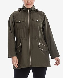 Plus Size Hooded Anorak