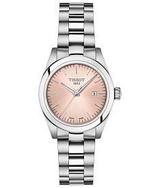 Women's Swiss T-My Lady Stainless Steel Bracelet Watch 29.3mm Gift Set