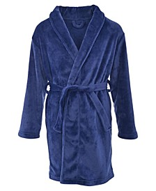 Big Boy's Classic Belted Shawl Collar Flannel Fleece Robe