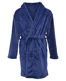 Big Boy's Classic Belted Shawl Collar Flannel Fleece Robe