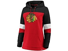 Chicago Blackhawks Women's Colorblocked Fleece Sweatshirt