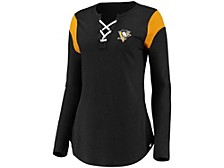 Pittsburgh Penguins Women's Iconic Lace Up Long Sleeve Shirt