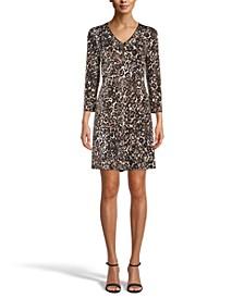 Gabriella Printed A-Line Dress