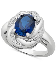 Blue Sapphire (1-3/4 ct. t.w.) & White Sapphire (1/6 ct. t.w.) Ring in Sterling Silver