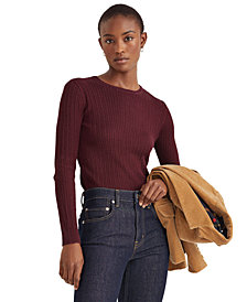 Lauren Ralph Lauren Cable-Knit Crewneck Sweater