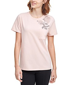 Embellished Rose T-Shirt