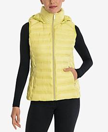 Packable Down Hooded Vest