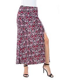 Women's Floral Print Ankle Length Skirt