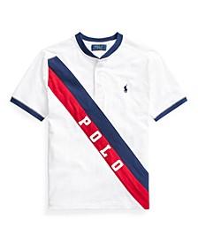 Big Boys Banner Cotton Jersey Henley T-shirt