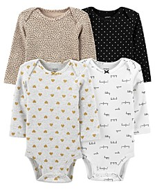 Carters Baby Girl 4-Pack Animal Print Original Bodysuits