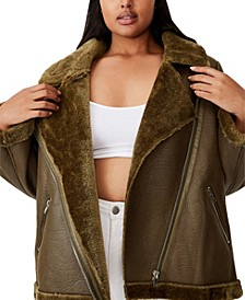 Trendy Plus Size Archer Aviator Jacket