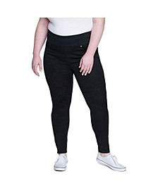 Women's Plus Size Tummy Toner Pull-on Legging