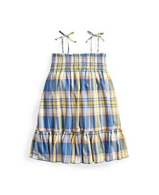 Toddler and Little Girls Plaid Madras Dress