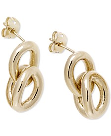 Statement Link Earrings in Gold-Tone PVD Stainless Steel