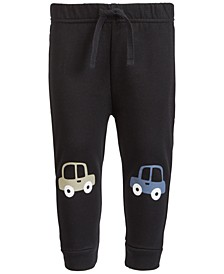 Baby Boys Car Knee-Patch Jogger Pants, Created for Macy's