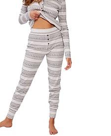 Women's Waffle Long John Pajama Pants