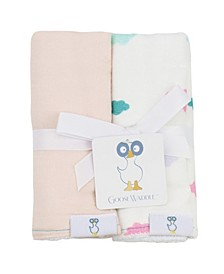 Baby Boys and Girls Muslin Terry Cloth Burp Cloth, Pack of 2
